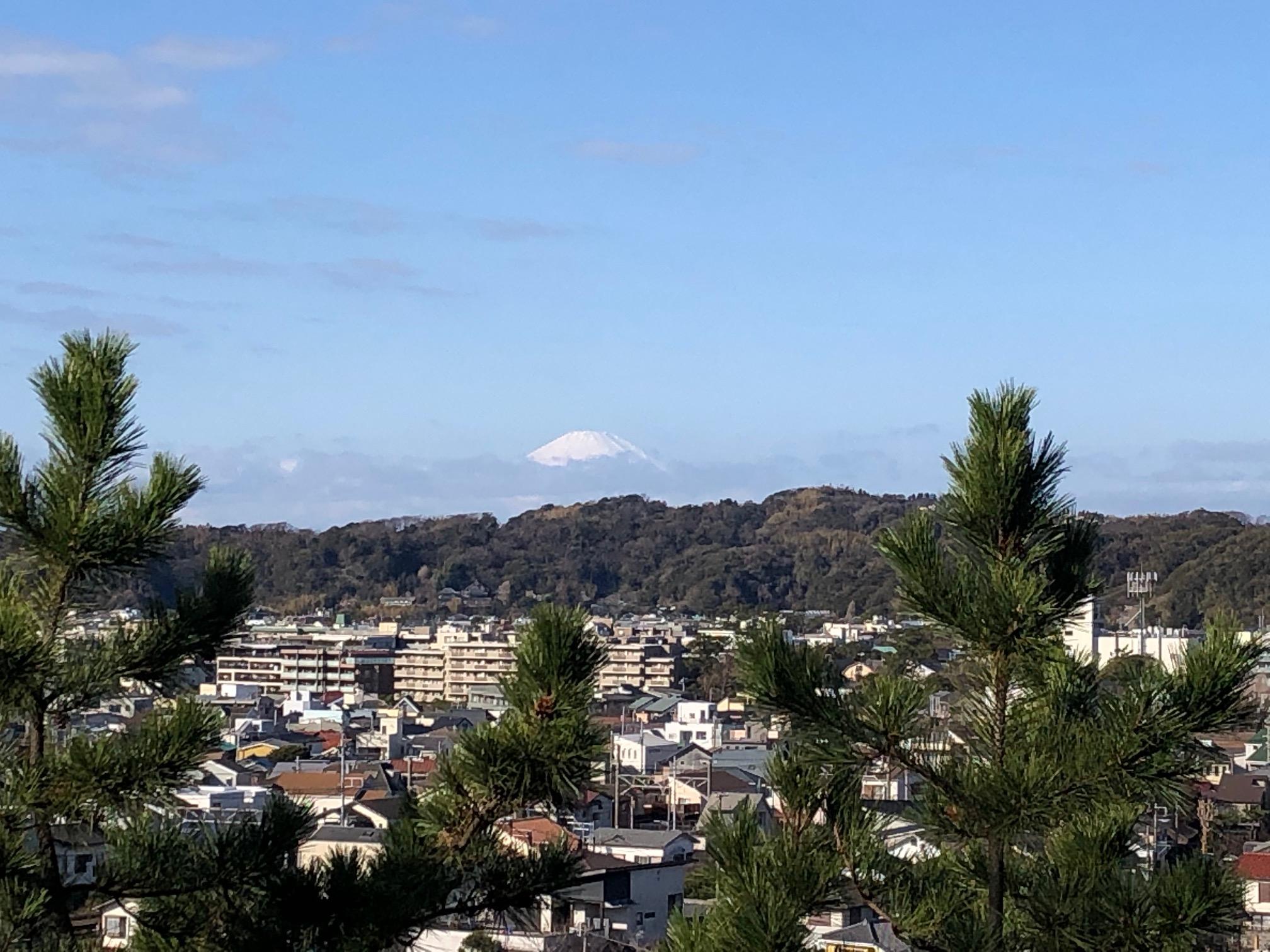 安国論寺の富士見台